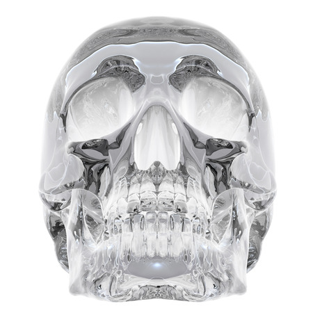 3D illustration of Crystal Skull - isolated on a white background Фото со стока - 111773741