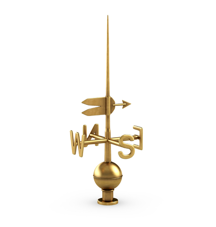 3D illustration of Weathervane on white background