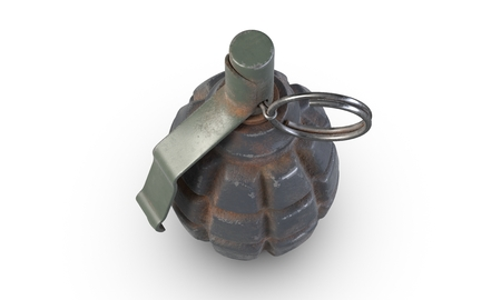 3D illustration of fragmentation grenade F-1 isolated on white background. Stock fotó
