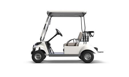 Rendering 3D del carrello da golf isolato su sfondo bianco Archivio Fotografico
