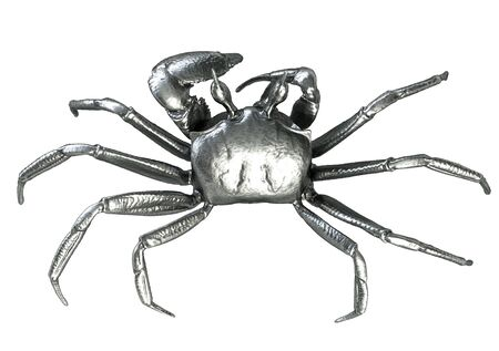 3D render of Metalic Crab top view isolated on white