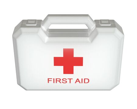 3D render of First Aid kit isolated on white.