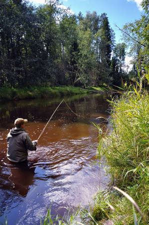 trout fishing: fishing