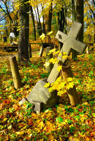 Cross in a old cemetery Stock Photo - 8082144