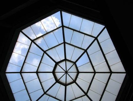 skylight: Octagon Skylight -- in a dome like building