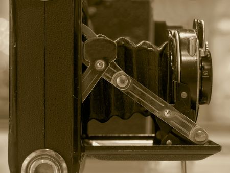 bellows: Vintage Camera with Bellows -- this model is about eighty years old