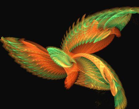 resembling: Magic Bird -- a digital creation resembling a tropical bird