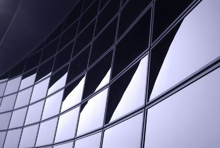 Modern Building Facade -- resembling an abstract pattern of shadows and light photo