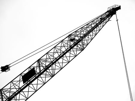 Heavy Duty Crane -- seen in outline form with its steel cables photo