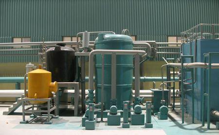 production plant: Piccola Factory - vista parziale di un impianto di produzione in miniatura