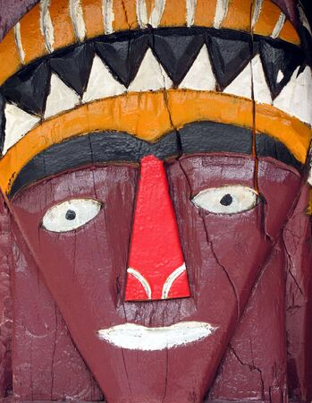 superstitions: Native Decoration -- design painted on wood by Taiwans aboriginal tribes