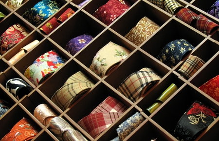uppers: Shoe Uppers -- made from colorful silk and cloth with many patterns Stock Photo