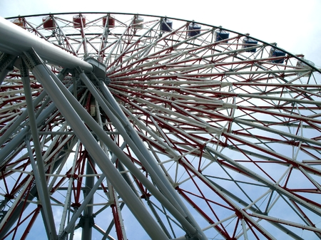 the height of a rim: Large Ferris Wheel -- a massive steel structure with intricate support beams