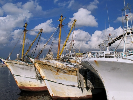 Chinese Fishing Boats -- located in port in the south of Taiwan Stock Photo - 1664941