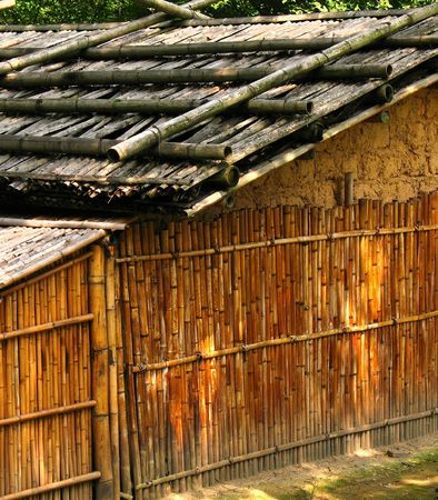 dwelling: Native Dwelling -- made from mud and bamboo, in Taiwans mountains