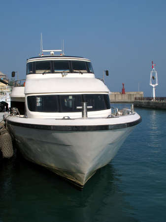 Large Speedboat -- this type is used for passenger service to an outlying island Stock Photo - 2155852