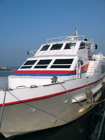 High Speed Ferry Boat -- this type is used for passenger service to an outlying island Stock Photo - 2155851