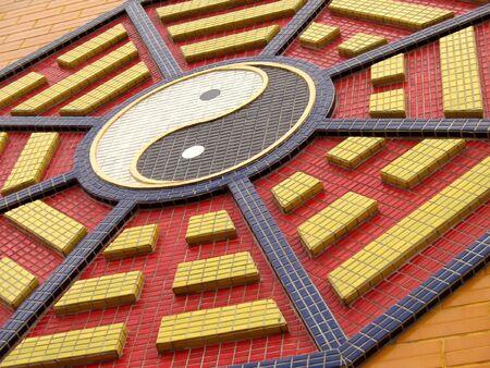 octagonal: Octogonal tao�sta S�mbolo - cada uno de los ocho trigrams tiene un significado distinto