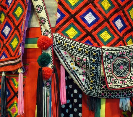 Native Costume -- a closeup view of a Taiwanese aboriginal dress
