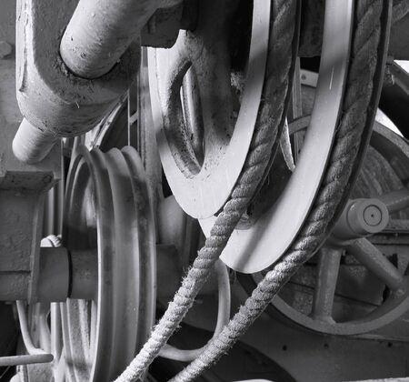 Hemp Processing Machine -- vintage industrial equipment to process sisal hemp Stock Photo - 2710973