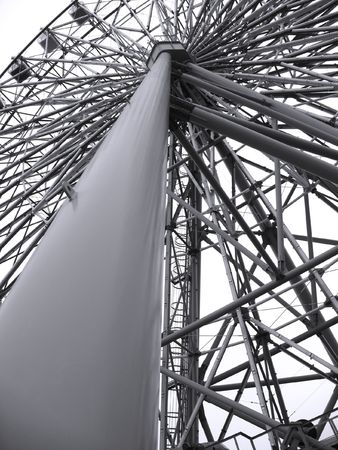 Ferris Wheel Detail -- a massive steel structure with intricate support beams Stock Photo - 2854188