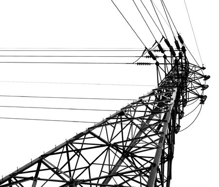 Electricty Mast -- monochrome image of a high voltage pylon