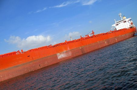 Large Supertanker -- it is anchored in Kaohsiung Harbor, Taiwan Stock Photo - 3219579