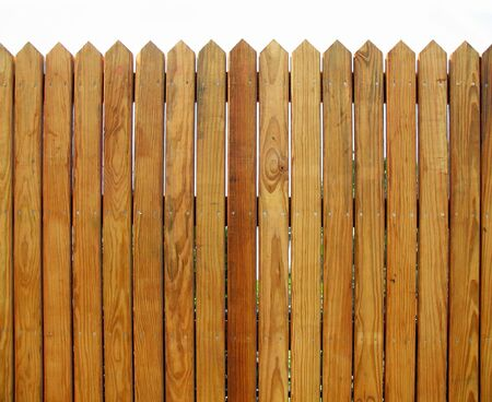 Wooden Fence -- with slats that show the natural wood pattern