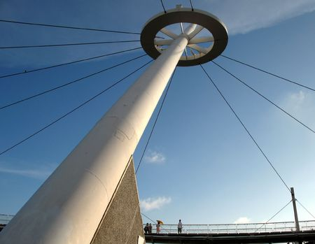 True Light Pier -- a modern structure at Kaohsiung harbor in Taiwan