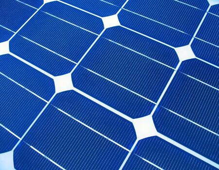 Solar Panel Macro -- a useful image for alternative energy  and environmental themes Stock Photo