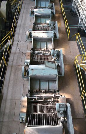 Outdated machinery and equipment inside an old sugar refinery Stock Photo - 4929812