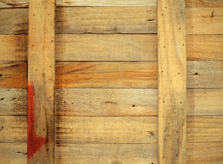 A closeup image of an old wooden crate photo