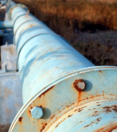 Large diameter steel tubes used as an oil pipeline Stock Photo - 6302009