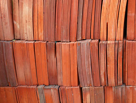 Kiln fired traditional Chinese roof tiles made from brick material Stock Photo - 9408555