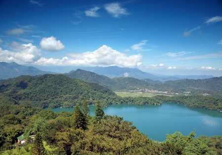 The beautiful Sun Moon Lake in central Taiwan