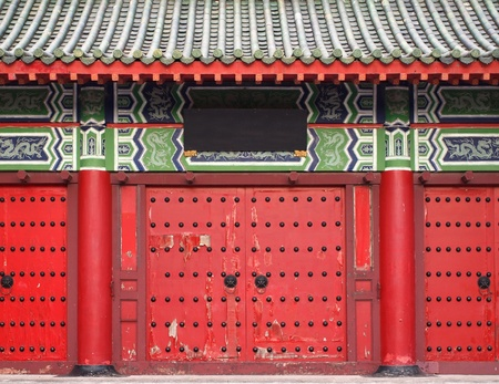 A large gate leading to a traditional Chinese temple Stock Photo - 14508582