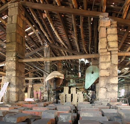 An old run down factory used for making bricks Stock Photo - 14828416