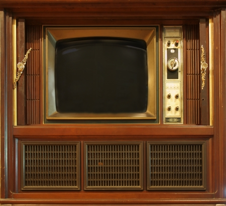 A vintage television set from about sixty years ago photo