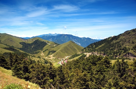 mountain range: A beautiful view of the Central Mountains in Taiwan