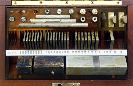 exactness: Vintage precision measuring tools used in engineering