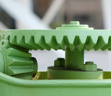 rotational: Old gears with cogs for rotational motion