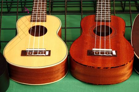 nylon string: Ukuleles mini guitars on sale at an outdoor stall