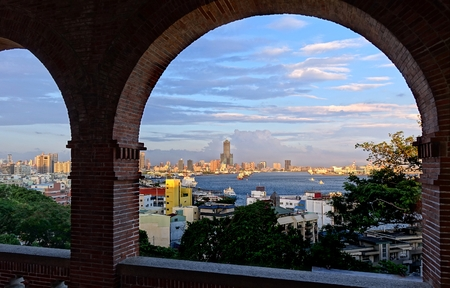 consulate: Beautiful view of the port and skyline of Kaohsiung from the former British Consulate