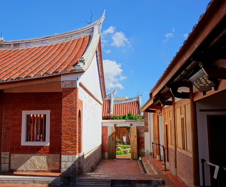 KAOHSIUNG, TAIWAN -- JUNE 10 , 2017: The Fongyi Imperial Tutorial Academy, originally built in 1814 during the Qing Dynasty and recently restored and reopened to the public. Editorial
