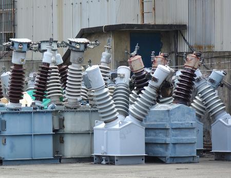 Ceramic porcelain insulators used for high voltage power lines