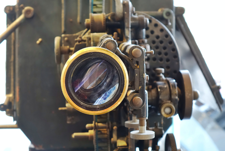 An old film or movie projector from some 60 or 70 years ago Stock Photo