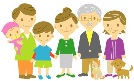 famiglia numerosa: famiglia Vettoriali