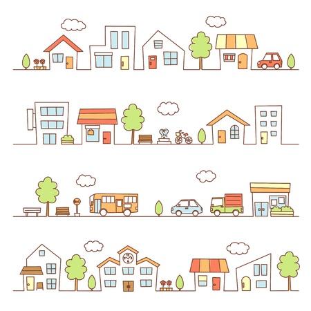 lojas e casas em uma rua