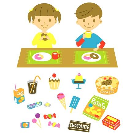galletas: niños, tienen una merienda