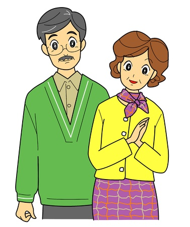 middle age women: old couple